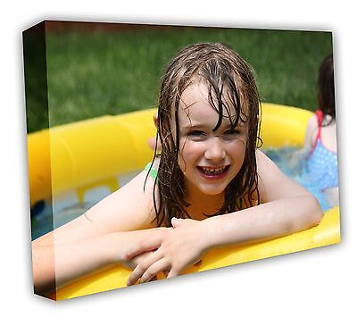 CANVAS PRINTS YOUR PHOTO ON A3 Personalised 16X12IN 18MM DEEP BOX FRAME • 9.89£