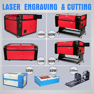 AU1998.39 • Buy 40W/50W/60/80W CO2 Laser Engraving Machine Cnc Rotary Axis Laser Engraver Cutter