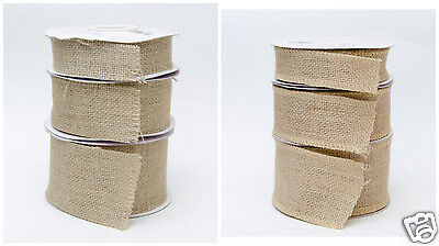 Hessian/Jute ~ Cut Edge Wired Edge Pearl Edge & Lace Edge - Flowers Cakes Etc.   • 7.93£