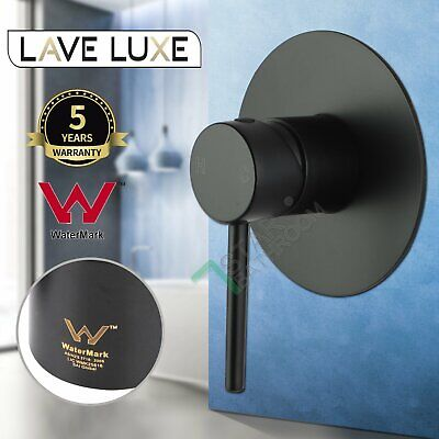 AU57.50 • Buy Black Brass Round Pin Shower Head Mixer Tap Wall Bathroom Bath Spout Watermark