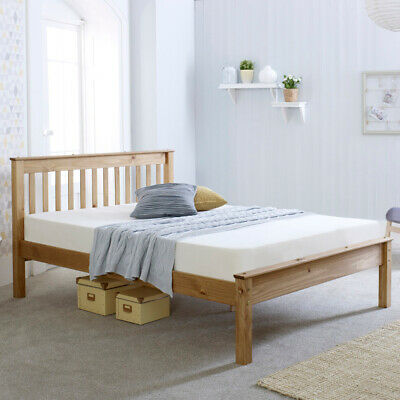 £179.99 • Buy Wooden Low Foot End Bed, Chester Waxed Pine With 4 Size And 4 Mattress Options