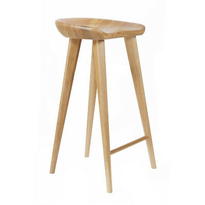AU1076.31 • Buy New! Carved Wood Barstool -30  Contemporary Bar/counter Tractor Stool-set Of 2 N
