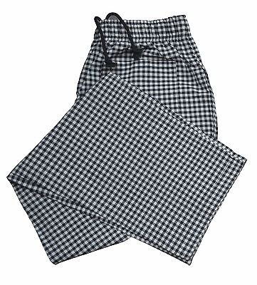 £9.99 • Buy Check Chef Trouser Three Pockets Excellent Quality Catering Work Pant For Unisex