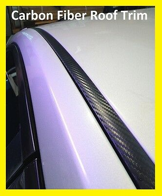 $39.84 • Buy For 2007-2011 TOYOTA CAMRY BLACK CARBON FIBER ROOF TRIM MOLDING KIT