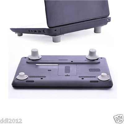 4pcs Notebook Accessory Laptop Heat Reduction Pad Cooling Feet Holder Stand Leg • 2.59£