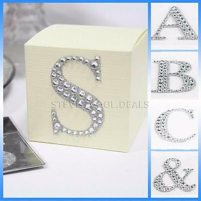Large 5cm Letters Diamante Self Adhesive Post Box Favour Embellishment Craft NEW • 1.63£