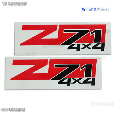 AU23.81 • Buy L+R Z71 4X4 Vinly Red Sticker Decal Set For Chevrolet Colorado Holden 2003-2010