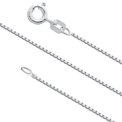 $5.89 • Buy Sterling Silver 1mm Box Chain Necklace For Pendants 925 Italy Wholesale Prices