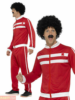 Adult 1980s Scouser Tracksuit  Shell Suit Mens Fancy Dress Costume Retro Outfit • 13.95£