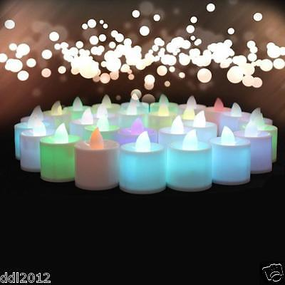 £3.09 • Buy Mini Colorful Romantic Electronic Candle LED Light For Party Wedding Decorate