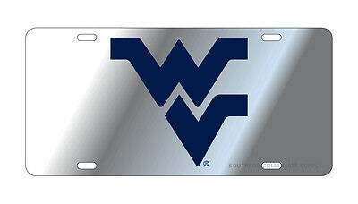 $ CDN30.17 • Buy WVU WEST VIRGINIA Mountaineers Silver-Blue Mirrored License Plate / Car Tag