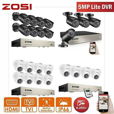 AU253.59 • Buy ZOSI 8CH 5MP Lite H.265+ DVR 1080P Home Outdoor CCTV Camera Security System 1TB