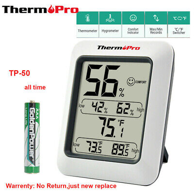 $10.99 • Buy ThermoPro Digital Hygrometer LCD Indoor Thermometer Temperature Humidity Meter
