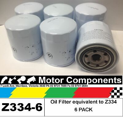 AU77.37 • Buy OIL FILTER 6 PACK Z334 For FORD, MAZDA & TOYOTA LANDCRUISER HILUX COASTER