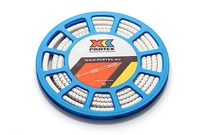 £9.59 • Buy Partex PA1 (Size C) Cable Markers, Black Text On White Marker, Disc Of 500