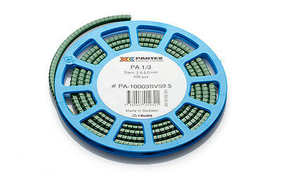 £9.95 • Buy Partex PA1 (Size C) Cable Markers, Colour Coded Markers, Disc Of 500