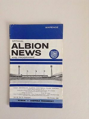 1960's  West Bromwich Albion  Football Programmes - Various Fixtures • 2.50£