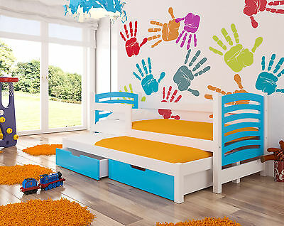 Trundle Bed AVILA For Kids/childrens Room With 2 Free Mattresses And Drawers • 329£