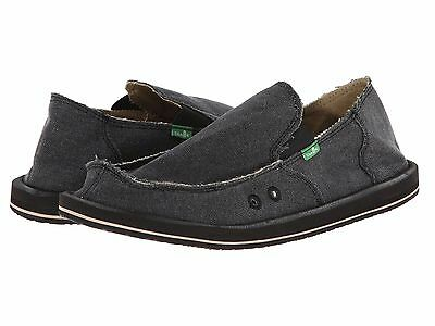 Men's Shoes Sanuk VAGABOND Slip On Canvas Sidewalk Surfers SMF1001 CHARCOAL • 34.97£