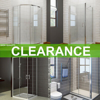 Sliding Walk In /Quadrant Shower Enclosure And Tray Frameless Pivot Corner Entry • 221.99£