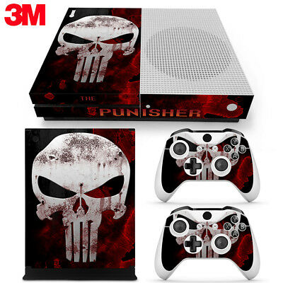 $13.99 • Buy Xbox One S Console Skin Decal Sticker The Punisher + 2 Controller Skins Set