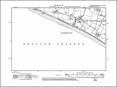 East Wittering, Old Map Sussex 1913: 72SE Repro • 16.99£