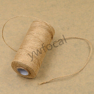 100M Natural Jute Twine Cord Rope For DIY Handmade Gift Making Crafts Hemp New • 2.03£