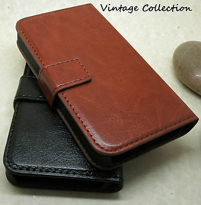 $ CDN6.85 • Buy Luxury Genuine Real Leather Flip Case Wallet Cover For Samsung Galaxy S9 S8 S7