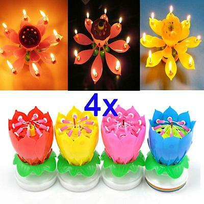 $ CDN3.47 • Buy Romantic Happy Birthday Music Play Lotus Candle Magic Musical Candle Flower