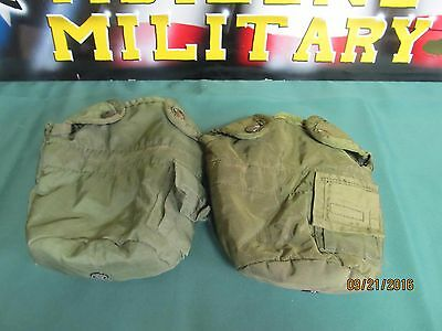 $ CDN12.33 • Buy 2 Military US Army 1 QT QUART CANTEEN COVER 1QT POUCH CARRIER OD WITH CLIPS VGC