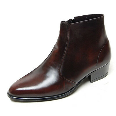 $96.90 • Buy New Mens Genuine Cow Leather Dress Formal Business Casual Zip Ankle Boots Shoes
