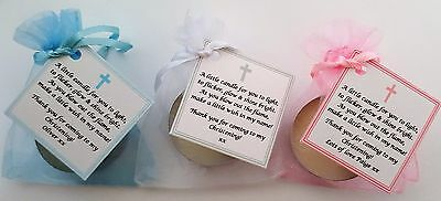 £0.99 • Buy CHRISTENING /BAPTISM FAVOURS Vanilla Candle - Personalised -GUEST GIFTS KEEPSAKE