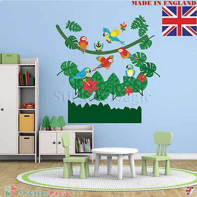 Large Nursery Wall Stickers Jungle Vinyl For Boy Girl Baby Childrens  Decals Art • 12.99£