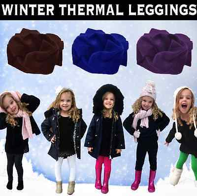 £4.49 • Buy  Childrens Winter Thick Thermal Leggings Girls Kids Sizes 2-14 All Colours