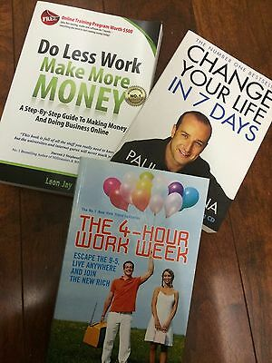 AU59.95 • Buy The 4-hour Work Week.ferriss.change Your Life In 7 Days.mckenna.do Less Make Jay