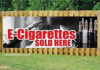 $ CDN44.20 • Buy E-CIG AND VAPE SOLD HERE BANNER SIGN Waterproof PVC With Eyelets 001