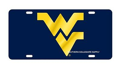 $ CDN30.17 • Buy WVU WEST VIRGINIA Mountaineers Blue Mirrored License Plate / Car Tag