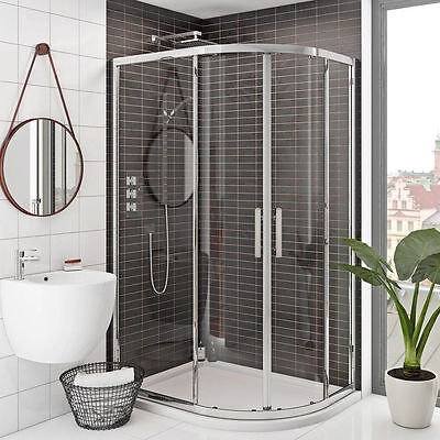 £216.99 • Buy Walk In Quadrant Shower Enclosure And Tray 6mm Glass Sliding Door Corner Cubicle