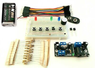 Basic Beginners Electronics Prototyping Breadboard Kit LDR, Thermistor, MPSA13 • 2.49£