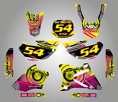 AU149.90 • Buy Full Custom Graphic Kit Yamaha YZ 85  - 2002 - 2014 NEON Style Stickers Decals