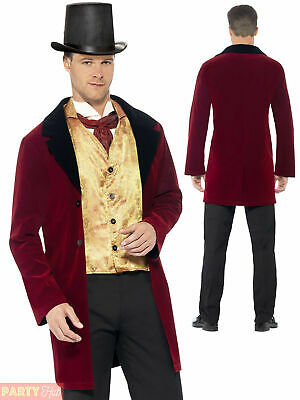 £27.45 • Buy Men Old Edwardian Gent Costume Adult Deluxe Victorian Fancy Dress History Outfit