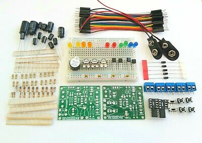 555 Timer Beginners Electronics Prototyping Breadboard Kit PCB - 2 Full 555 Kits • 2.49£