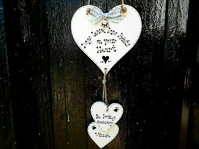 🐾 New Personalised Pet Dog Memorial, Pet Loss Sign / Gift/ Plaque/ Heart/🐾     • 6.99£