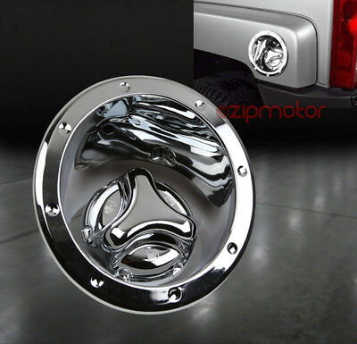 $59.95 • Buy 06-10 Hummer H3 Gas Tank Cover Fuel Door Lid Bezel Cap Moulding Trim Chrome 2pcs