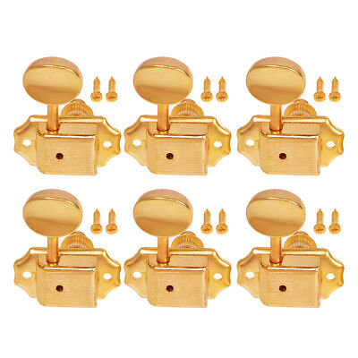$ CDN18.76 • Buy Electric Acoustic Guitar String Tuning Pegs Keys Tuners Machine Heads Gold 6R