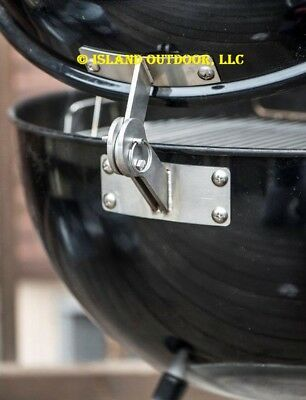 $ CDN71.28 • Buy LIMITED EDITION Stainless Weber KETTLE Lid Hinge Mod Smoker One Touch 22.5 26.75