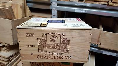 £19.95 • Buy 1 X 6 Bottle With Lid - Genuine French Wooden Wine Crate Box Christmas Gift Idea