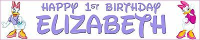 Daisy Duck Personalised Birthday Banners Pack Of Two  • 4.99£