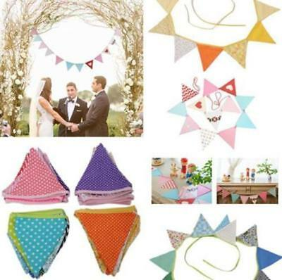 Vintage Wedding Garden Party Floral Fabric Bunting Flag Banner Garland T • 3.14£
