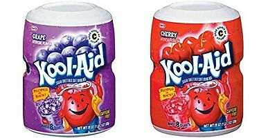 Kool Aid Grape And Cherry Tubs 538g (1 Of Each) • 16.99£